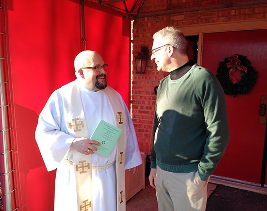 Father Scott and Jim - Fr. Scott installation mass